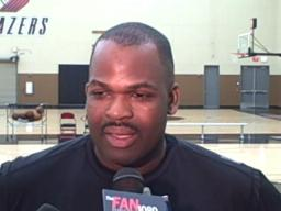 Blazers coach Nate McMillan on Monday's workouts