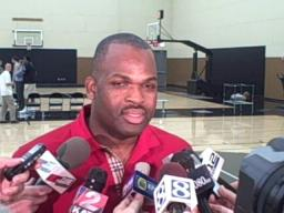 Nate McMillan talks about Tuesday's predraft workouts