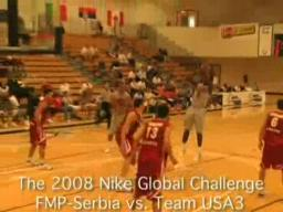 Serbia shocks the USA on day one of the Nike Global Challenge