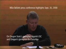 Mike Bellotti press conference 09/30/08