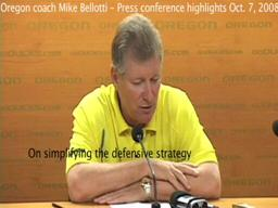 Mike Bellotti press conference highlights