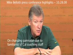Mike Bellotti press conference highlights 10.28.08