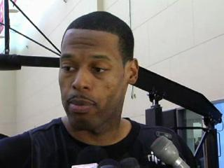 Marcus Camby's first practice with the Trail Blazers