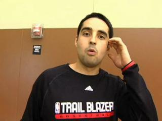 Kaleb Canales on the Trail Blazers rookies