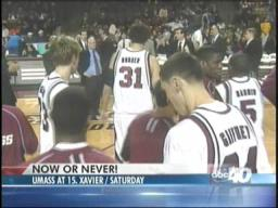 UMass preps for Xavier test