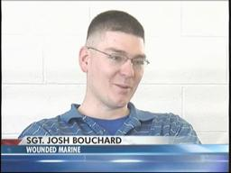 Marine Sgt. Joshua Bouchard, injured in Afghanistan, welcomed home
