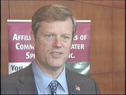 Massachusetts Republican candidate for governor Charles Baker fires back at Gov. Deval Patrick