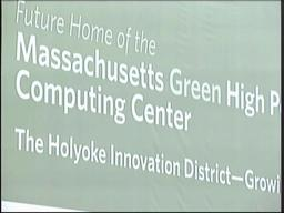Construction officially underway on the high-performance computing center in Holyoke