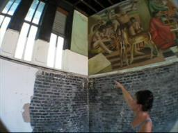 Mural uncovered in former beauty college