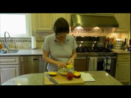 Judy's Kitchen: Cutting up and serving mango