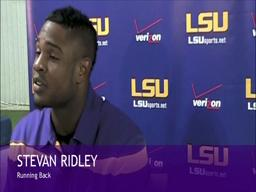 Interview with Running Back Stevan Ridley