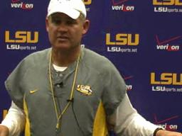 LSU video: Les Miles Wednesday briefing, 10-06-10
