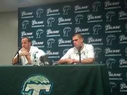 Tulane's Joe Kemp and Taylor Echols following the Army game