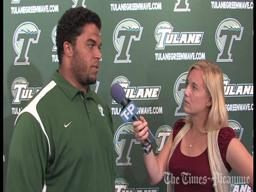 Tulane center Andrew Nierman talks about battling back from frustation: video