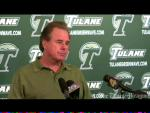 Tulane football coach Bob Toledo's weekly press conference