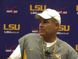 LSU video: Miles Thursday postpractice, 10-28-10