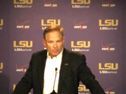 LSU football coach Les Miles on Saturday's game against Alabama