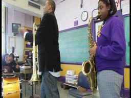 Glen David Andrews sings for Warren Easton High School students