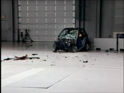 IIHS crash test of Smart fortwo