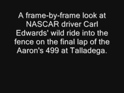 Carl Edwards final lap Talladega wreck