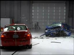 IIHS crash test of Toyota Yaris