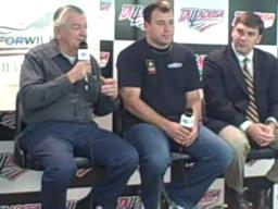 Bobby Allison talks outdoors with Ryan Newman