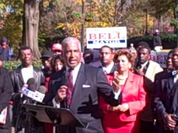 William Bell, in announcing run for mayor, praises Larry Langford