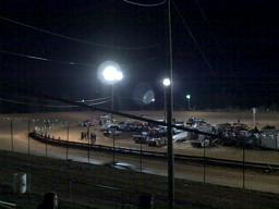 Crate late model race at Central Alabama Motor Speedway