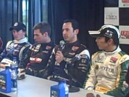 Indy pole qualifying press conference at Barber