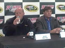 NASCAR officials discuss Talladega test