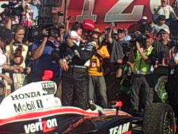 Video: Helio Castroneves celebrates in Victory Lane at Barber