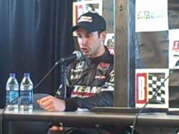 Helio Castroneves talks about his win at Barber