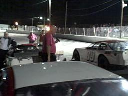 Driver introductions at Sayre Speedway