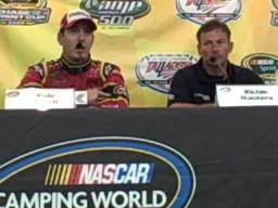Kyle Busch talks about his win in the Talladega truck race