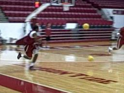 Alabama point guard Trevor Releford's first practice
