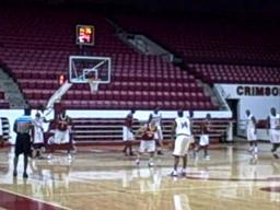 Alabama basketball practice