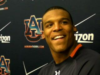 Auburn QB Cam Newton looks at win over Ole Miss