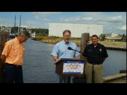 BP, state and local Officials visit Bayou La Batre seafood processing facility