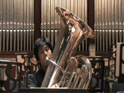 Tuba player talks about his art