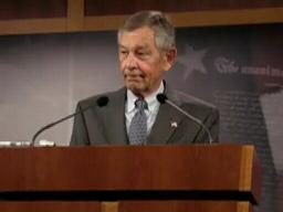 Voinovich answers questions