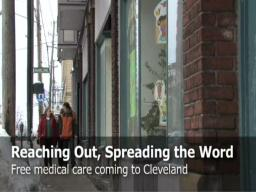Free medical care coming to Cleveland