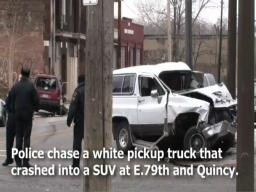 Cleveland police chase ends in East Side crash – raw video
