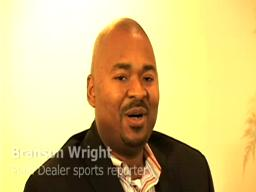 Branson Wright talks to Big Chuck Schodowski