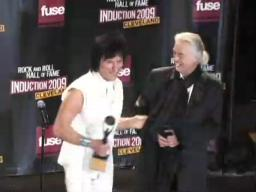 Jeff Beck talks to the press
