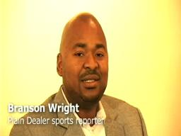 Branson Wright talks with Gary Waters of Cleveland State