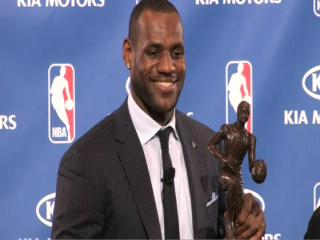 LeBron James named the NBAs MVP