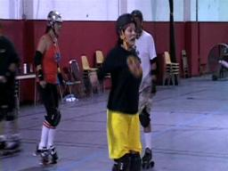 Chuck Yarborough learns to be a roller derby girl