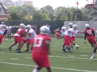 Ohio State runs a two-minute drill during practice