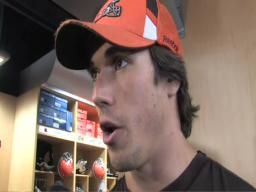 Cleveland Browns quarterback Brady Quinn responds to rumors of a trade