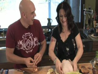 Cooking at home with Liz and Michael Symon: Part 1